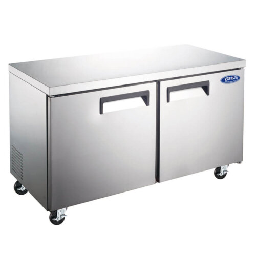 Undercounter Freezer Two Door 48 Inches 12 CF Grista