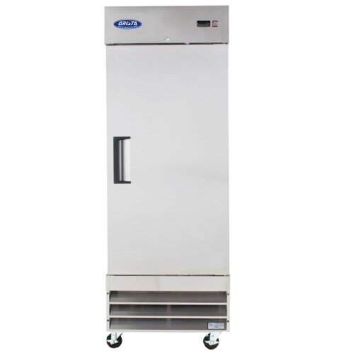 One Solid Door Reach-In Freezer 23CF 29 Inches