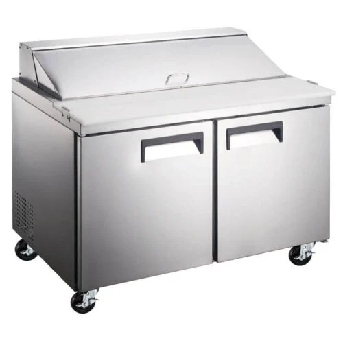 Refrigerated Salad Sandwich Prep Table 60 Inches Two Door