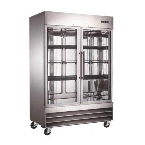 Two Glass Door Reach-In Freezer 48 Cu Ft