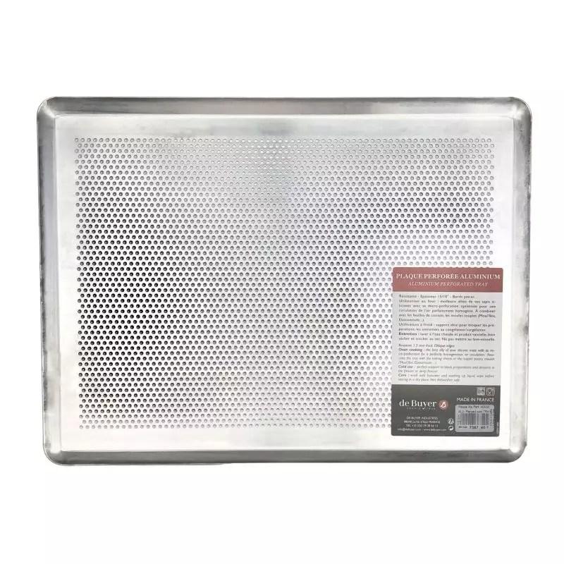 plaque de cuisson micro perforee 40x30 cm
