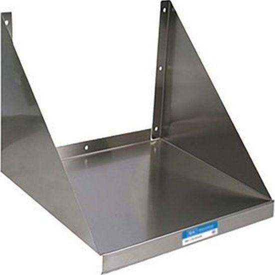 bk resources bkmws 2030 30 x20 stainless steel wall mount microwave shelf