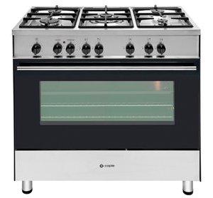 Dual fuel single cavity range cooker