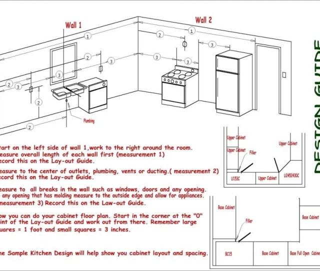Kitchen Layout Instruction Sheet