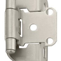 Amerock BP7550-G10 Self-Closing, Partial Wrap 1/2-Inch Overlay Hinge, Satin Nickel, 1-Pack