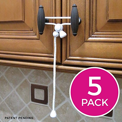 Kiscords Baby Safety Cabinet Locks For Knobs Child Safety Cabinet Latches  For Home Safety Strap For
