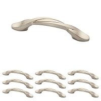 Franklin Brass P35518K-SN-B 3 inch (76Mm) Twisted Arch Kitchen Cabinet Drawer Handle Pull, Satin Nickel, 10-Pack,