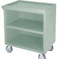Cambro BC3304S-192 Polyethylene Standard Service Cart with 1-Side Enclosed, Granite Green