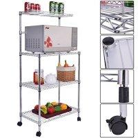 Gracelove 3-Tier Kitchen Baker's Rack Microwave Oven Stand Storage Cart Workstation Shelf