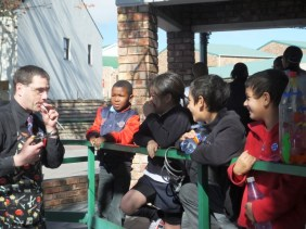 Science busking for Science Week in Grahamstown, South Africa.