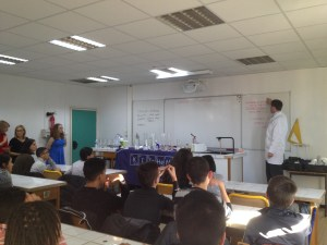 British Council Science In Schools workshops in France.