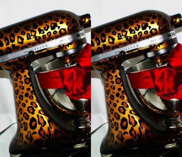 Pearl leopard kitchen aid mixer