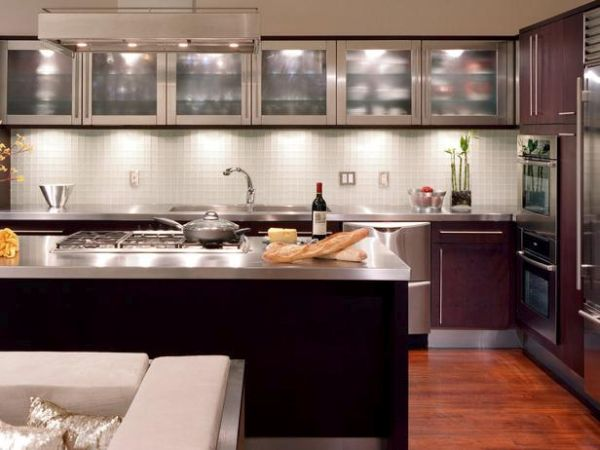 Use glass on the cabinet doors