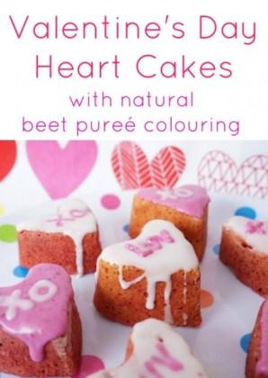 valentine day cake with beet puree