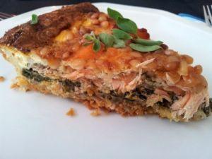 Lachs-Spinat-Quiche ohne Käse 3