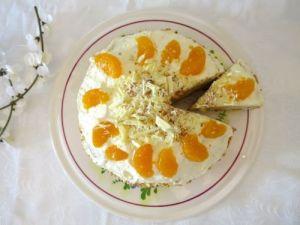 Mandarinen-Krokant Torte ohne Gelatine4