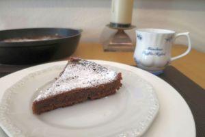 Schokoladentarte aus der Pfanne