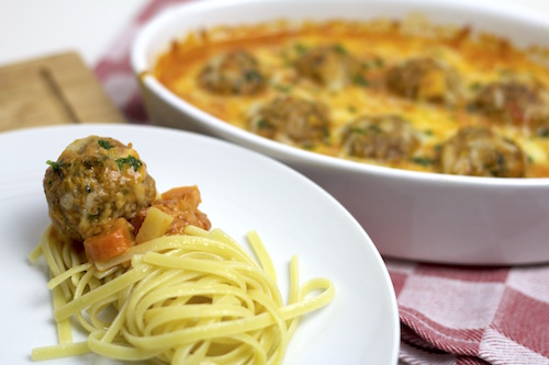 Chili-Meatballs mit Linguine 3