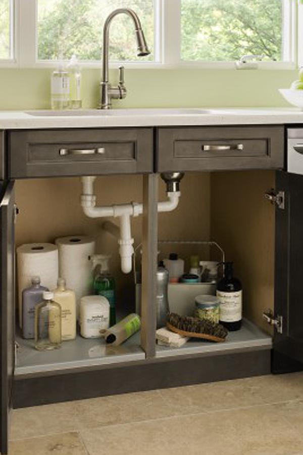 sink base cabinet with tilt out