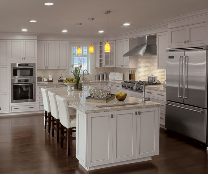 Cabinet Styles   Inspiration Gallery   Kitchen Craft     Painted kitchen cabinets in alabaster by Kitchen Craft Cabinetry
