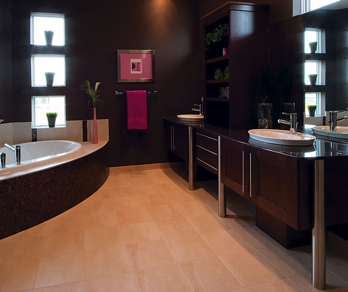 Contemporary Bathroom Cabinets in Dark Maple Finish ... on Bathroom Ideas With Maple Cabinets  id=60601