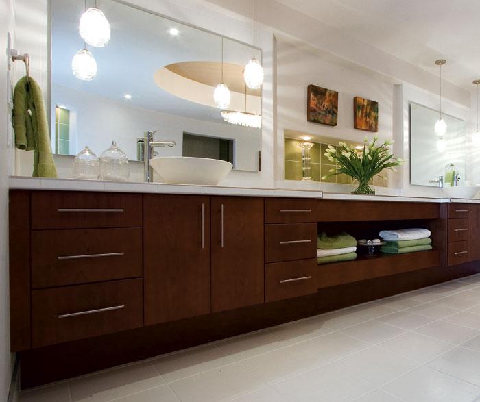 Dark Gray Cabinets In A Casual Bathroom Kitchen Craft