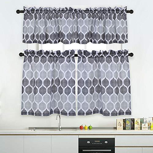 Haperlare 3 Pieces Moroccan Kitchen Window Curtain Set Kitchen