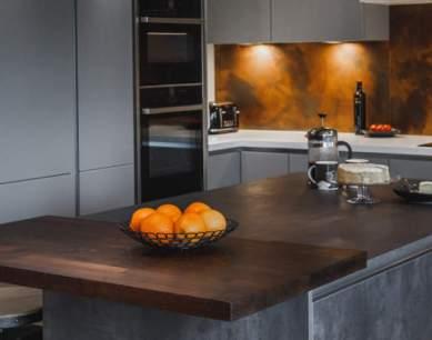 grey modern kitchen