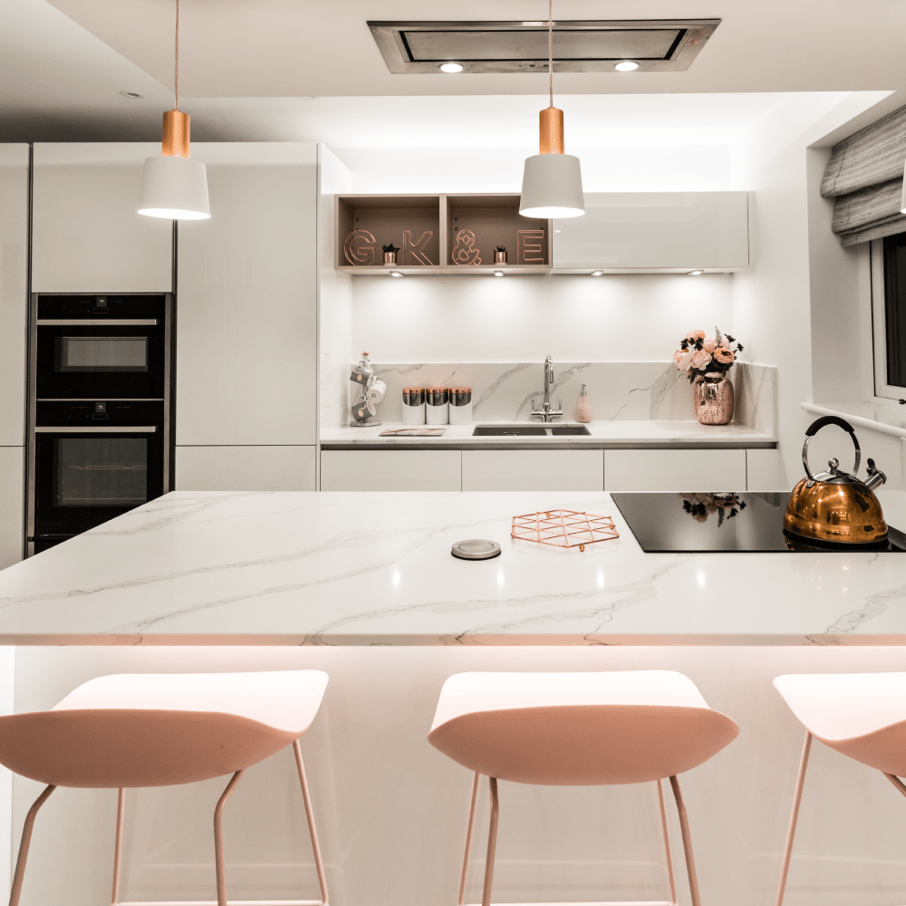 A Stunning Blush Kitchen
