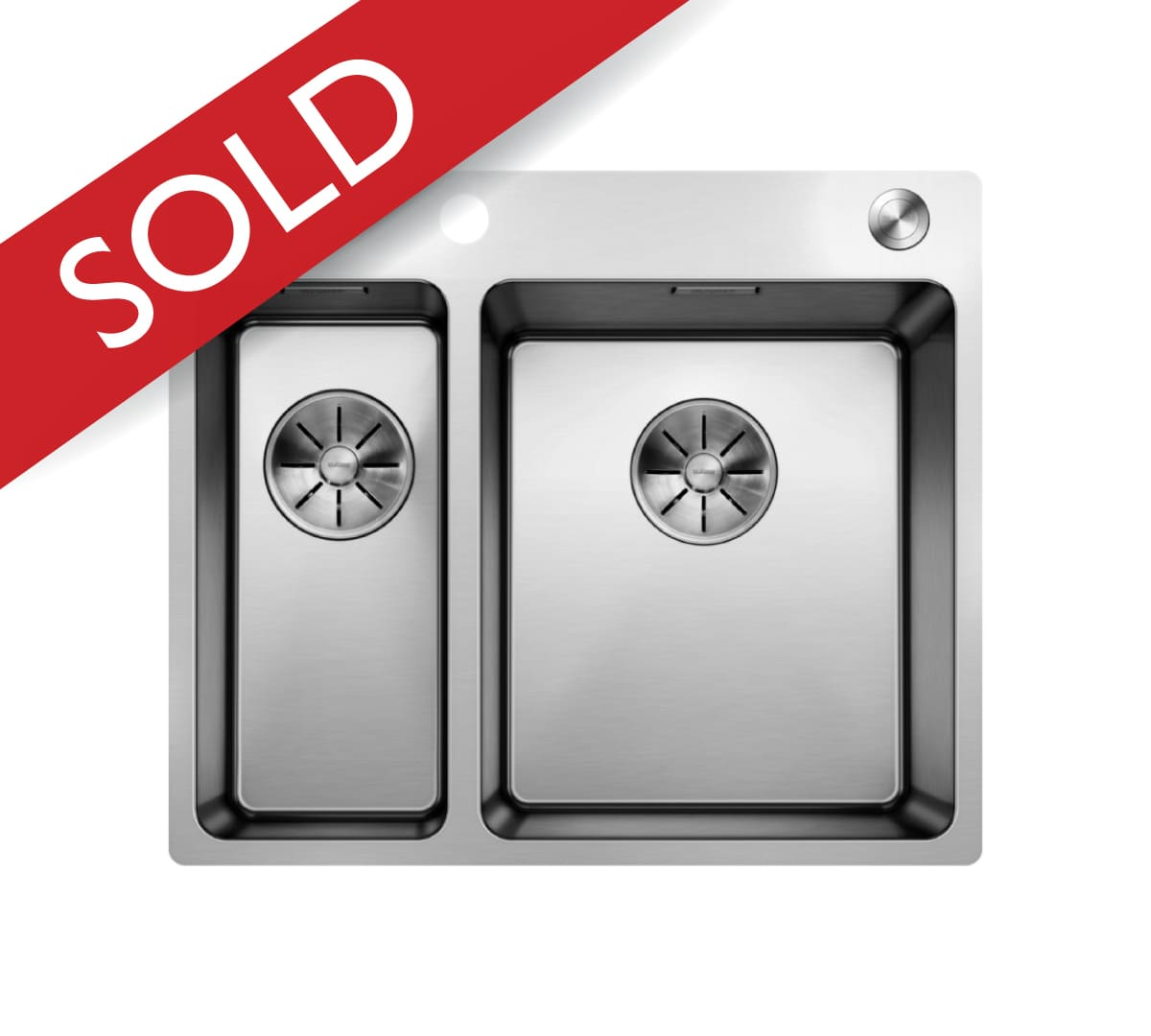 Ala Andano 340/180-IF/A Inset Sink & Tap Pack RH Bowl Stainless Steel
