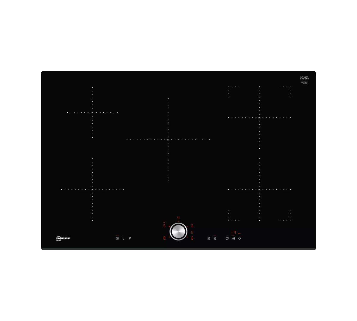 80cm Induction Hob, TwistPad, CombiZone, 4 Zones