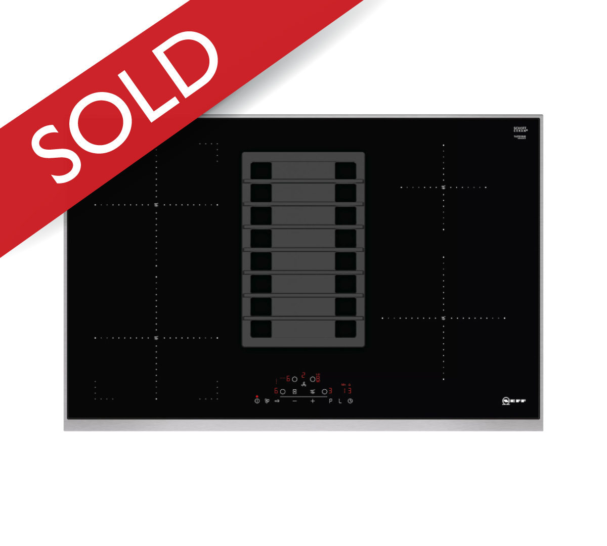 N70Induction Hob with integrated ventilation system80cm
