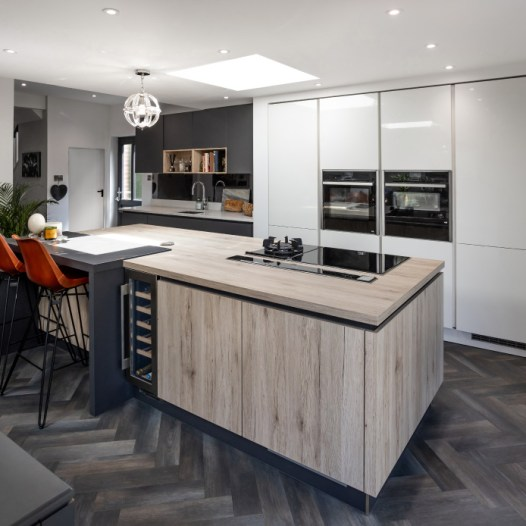A contemporary kitchen for a period property