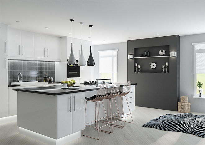 Lincoln High Gloss White Kitchen Doors Made To Measure From Pound 3 29
