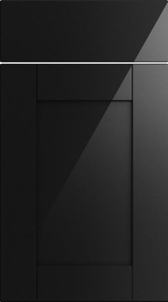 Washington High Gloss Metallic Black Kitchen Doors From 695 Made To Measure