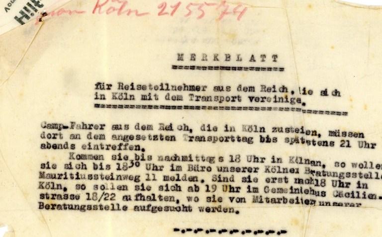 Letter: Hilfsverein 2nd June 1939, addendum