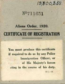 Certificate of registration, 1939