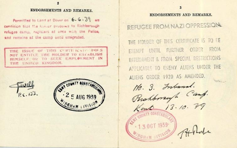 Refugee from Nazi Oppression, 1939