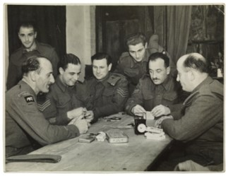 Walter Brill; playing cards in the British army; Second World War