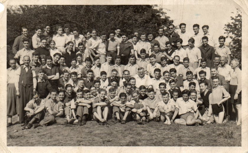 Berlin ORT boys at Kitchener camp, 1939