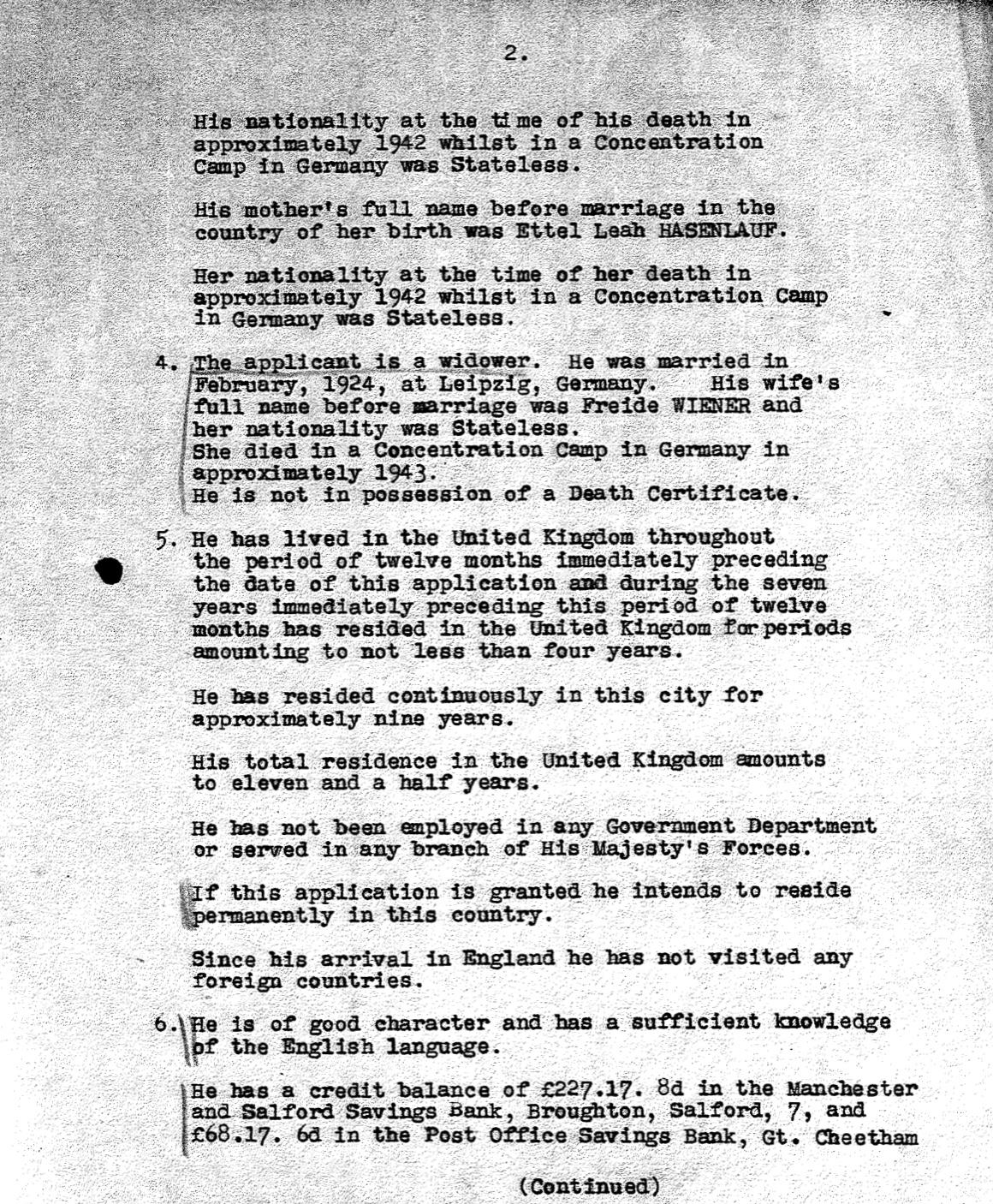 Peisech Mendzigursky – Docs – Kitchener Camp