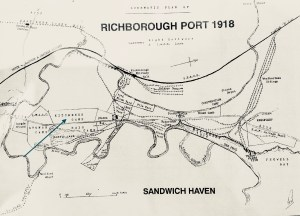 Richborough port map, 1918