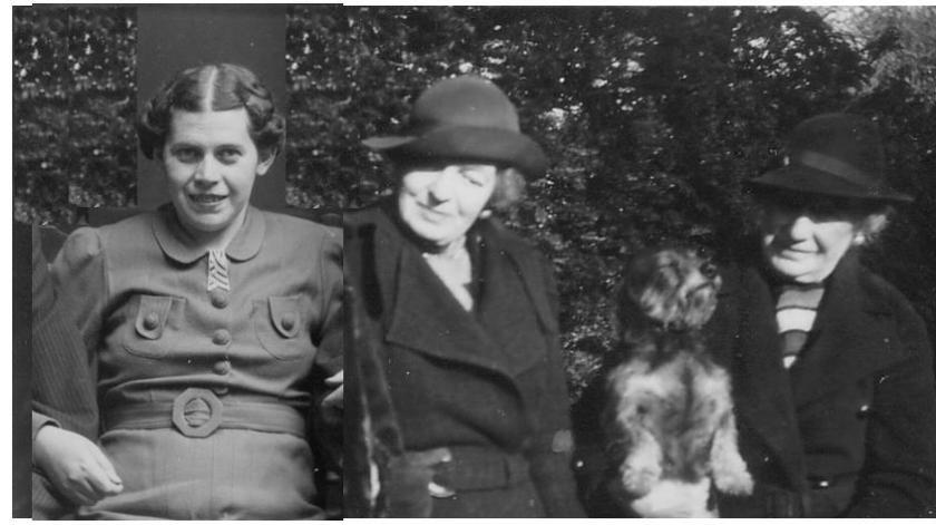 Kitchener camp, 1939, Erna Finkelstein, Mrs Davies, 'Edna', and Mrs Farquhar