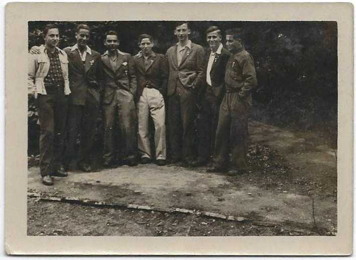 Richborough camp, Sandwich, Herbert Nachmann, with the ORT, far left