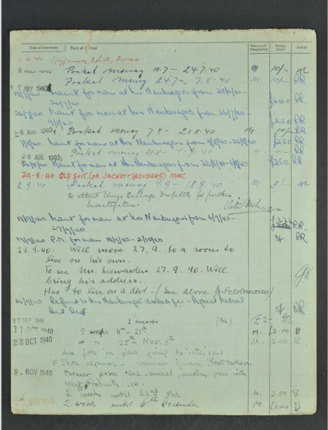 Kitchener camp, Hugo Heilbrunn, German Jewish Aid Committee form, page 4