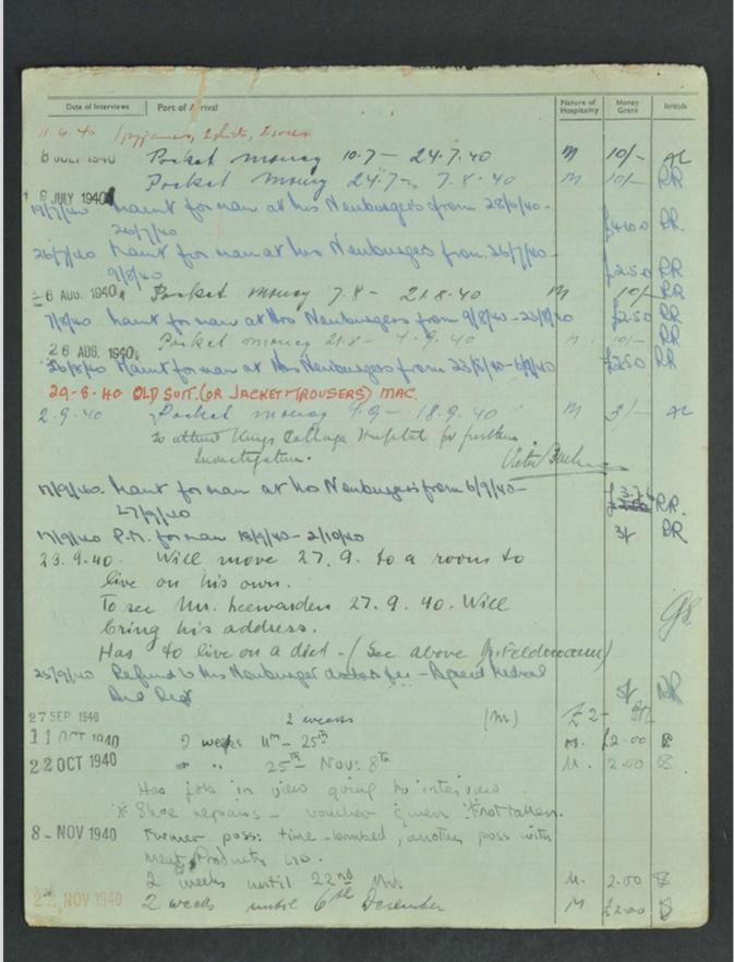 Kitchener camp, Hugo Heilbrunn, German Jewish Aid Committee form, page 4