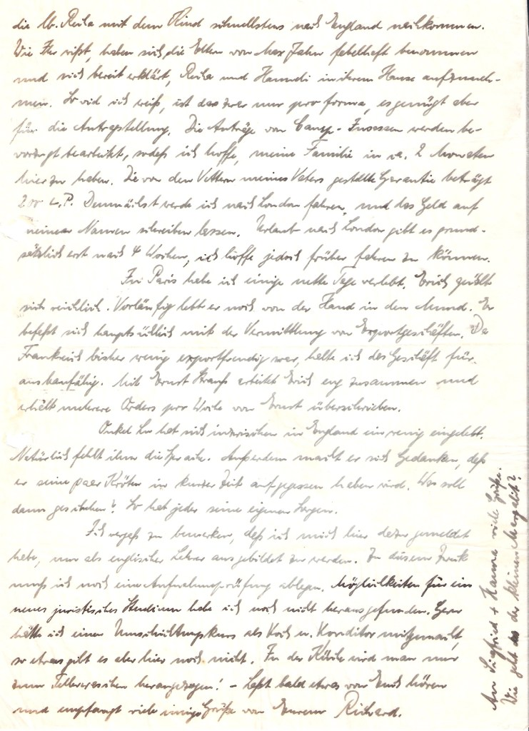 Richborough transit camp, Richard Cohn, Letter, 19 July 1939, page 2