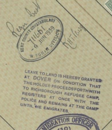 Kitchener camp rescue, Sandwich 1939