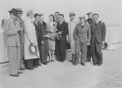 Hermann Diamant and Joseph Haber, around 1944, taken in Farnham, Virginia after emigrating to the USA