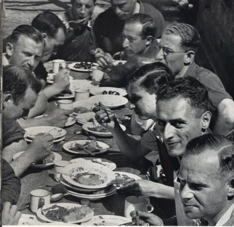 Richborough transit camp, Some Victims of the Nazi Terror, 1939 - communal mealtimes